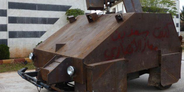 VIDÉO. Cham II, le tank blindé artisanal des rebelles,