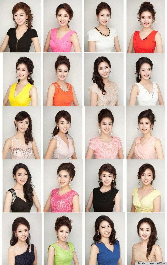 PHOTOS. Chirurgie esthétique : les ressemblances des concurrentes de Miss Corée 2013 frappent les