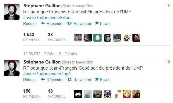 UMP: Stéphane Guillon déclare François Fillon vainqueur après son
