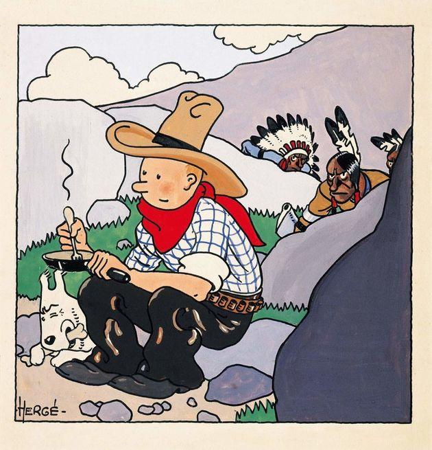 Enchères: la couverture de Tintin en Amérique arrachée pour 1,3 million