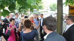 Avec Aurélie Filippetti à la rescousse d'un candidat