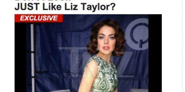 Lindsay Lohan: Découvrez les premières photos de l'actrice en Liz Taylor-