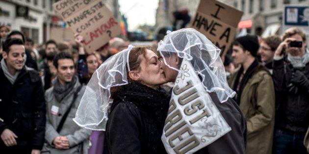 Mariage gay: avant la manifestation parisienne, des milliers de partisans ont défilé à Lyon, Marseille...