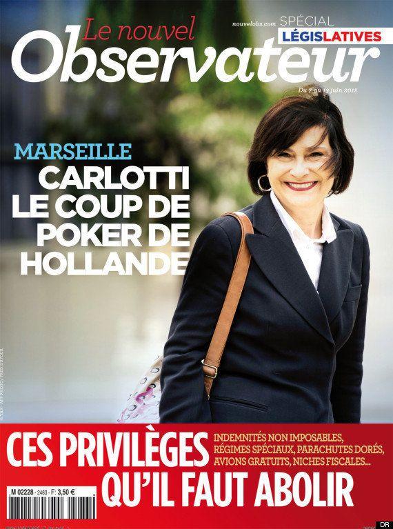Marseille: les affiches du Nouvel Observateur avec Marie-Arlette Carlotti retirées des