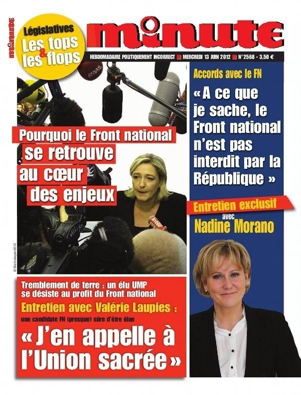 Nadine Morano: son interview dans Minute, journal