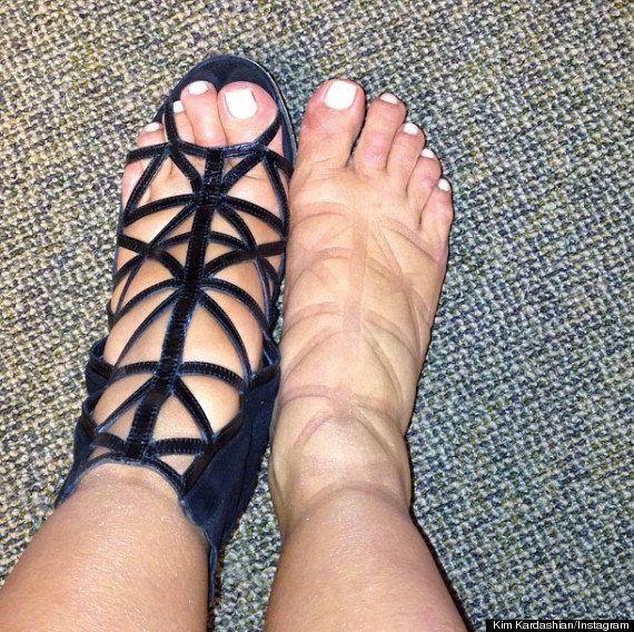 PHOTO. Kim Kardashian, sa grossesse et ses pieds gonflés sur Twitter et