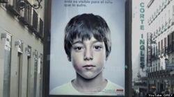 Cette affiche contre la maltraitance n'est visible que par les