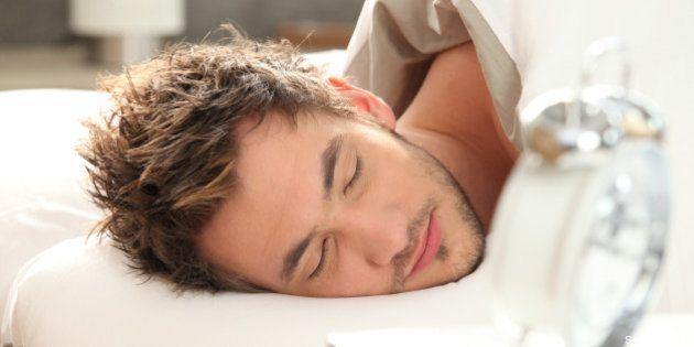 portrait of a sleeping man