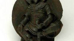 Une statue de Bouddha faite à partir d'une
