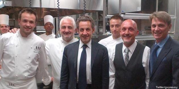 PHOTO. Nicolas Sarkozy à Las Vegas: une conférence et un dîner au restaurant de Guy