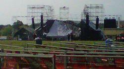 Concert de Radiohead: la scène s'effondre et fait un