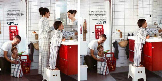 PHOTOS. Ikea supprime les femmes de son catalogue pour l'Arabie