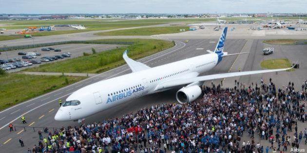 EN IMAGES. Airbus : l'A350 a été présenté en