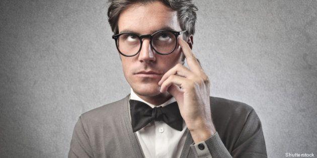 fashionable man thinking