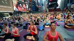 Le yoga s'invite en plein Times
