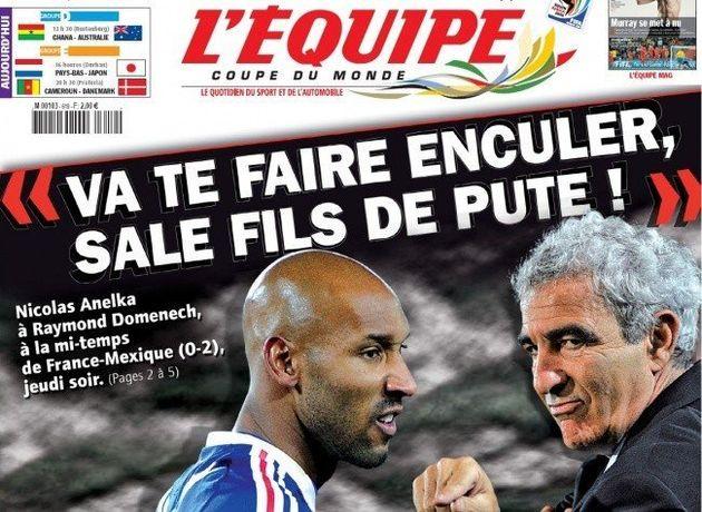 Euro 2012, équipe de France: des éclats de voix avec Samir Nasri et Hatem Ben Arfa lors du match contre...