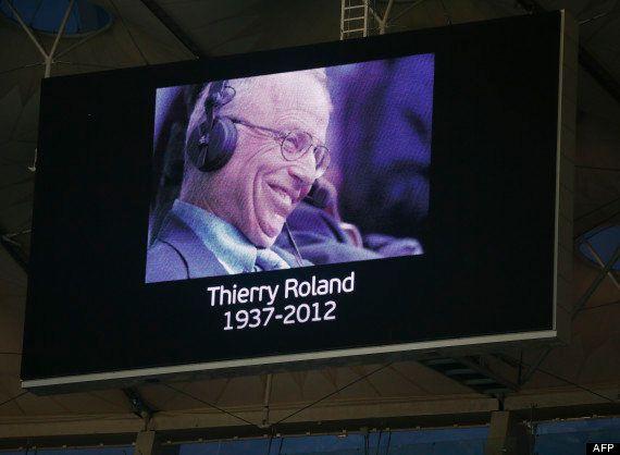 PHOTOS. Enterrement de Thierry Roland : de nombreuses personnalités à ses