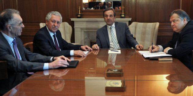 Antonis Samaras a composé le gouvernement grec et négocie