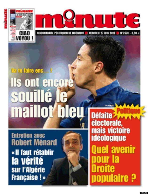 Samir Nasri en couverture du journal d'extrême-droite
