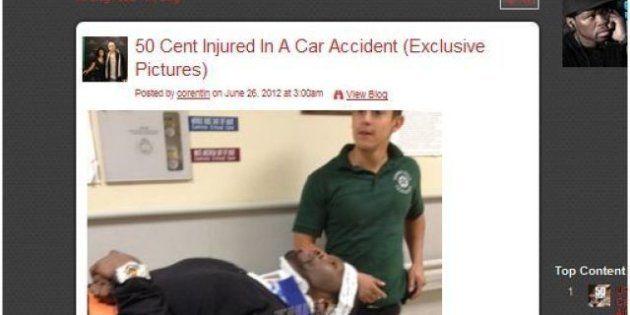 50 cent: le rappeur à l'hôpital après un grave accident de la