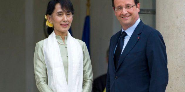 VIDÉO. Visite d'Aung San Suu Kyi, François Hollande annonce son soutien à la