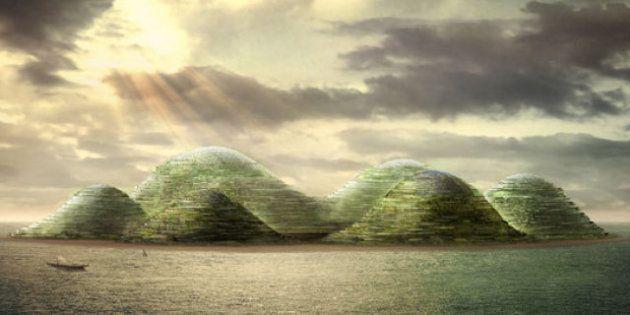 PHOTOS. Architecture : une idée d'île artificielle gigantesque au large