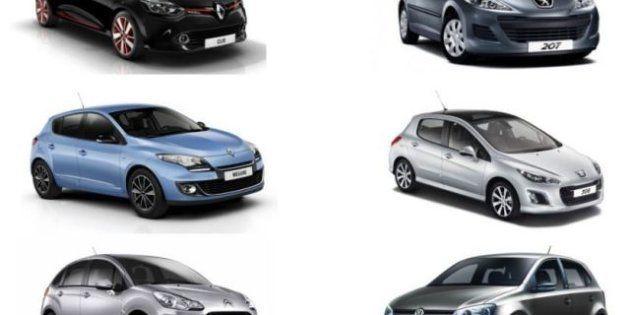 Automobile: 1,9 million d'immatriculations en 2012 selon le CCFA. Le top 100 des modèles de voiture les...