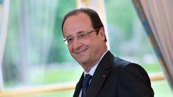 Hollande auprès des parlementaires PS après sa conférence de