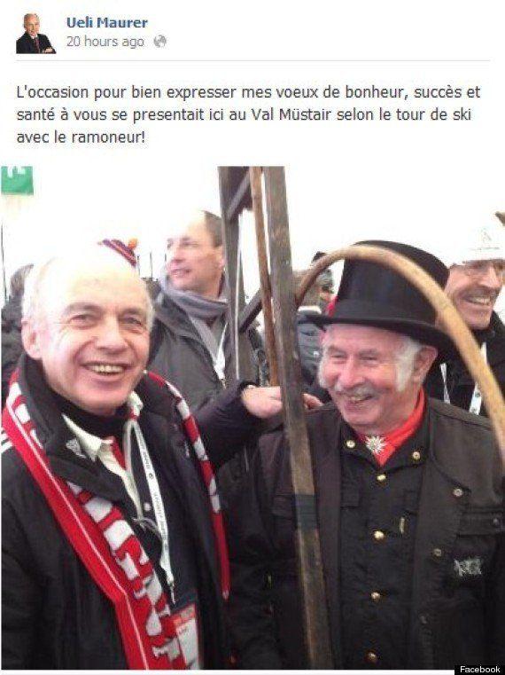 Ueli Maurer, le président suisse, publie ses vœux dans un français très approximatif sur