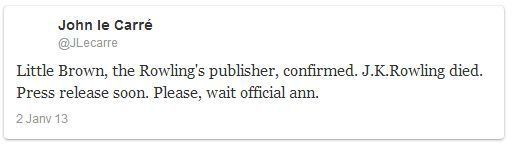Twitter: JK Rowling, Rihanna, Jean Dujardin, Bernard Montiel... Les rumeurs sur les fausses morts de...
