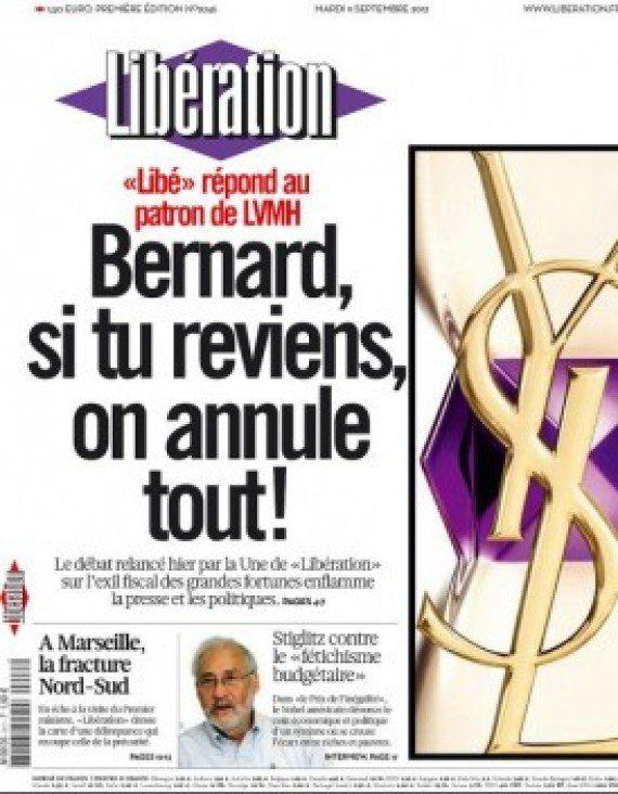 Le procès de Bernard Arnault contre Libération fixé à octobre