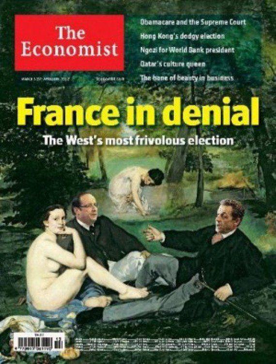 The Economist se paye Obama et le déguise en Français avec baguette, béret et
