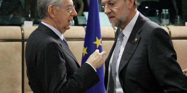 Sommet européen: Monti et Rajoy posent leurs conditions et embarrassent Hollande sur la