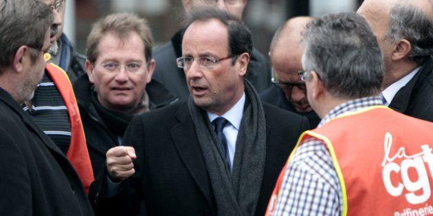 Le président Hollande rencontre les salariés de Petroplus un an jour pour jour après le