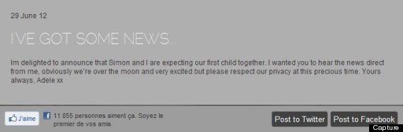 Adele enceinte : la chanteuse attend son premier enfant avec Simon