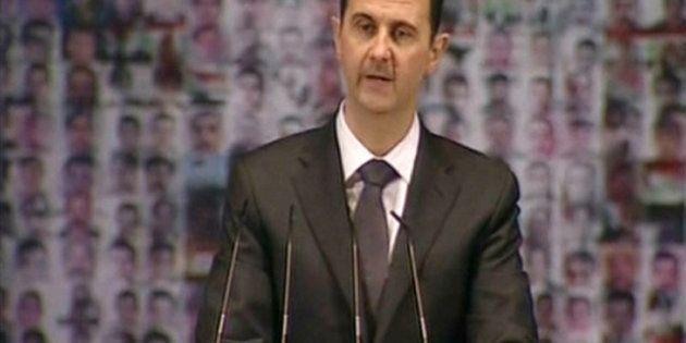 Bachar el-Assad a dénoncé un conflit entre