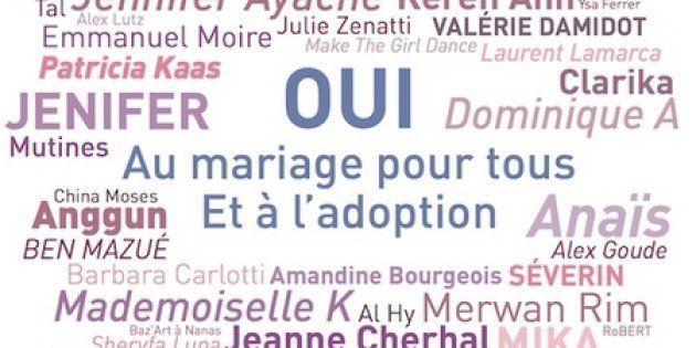 Plus de 250 artistes engagés en faveur du mariage pour
