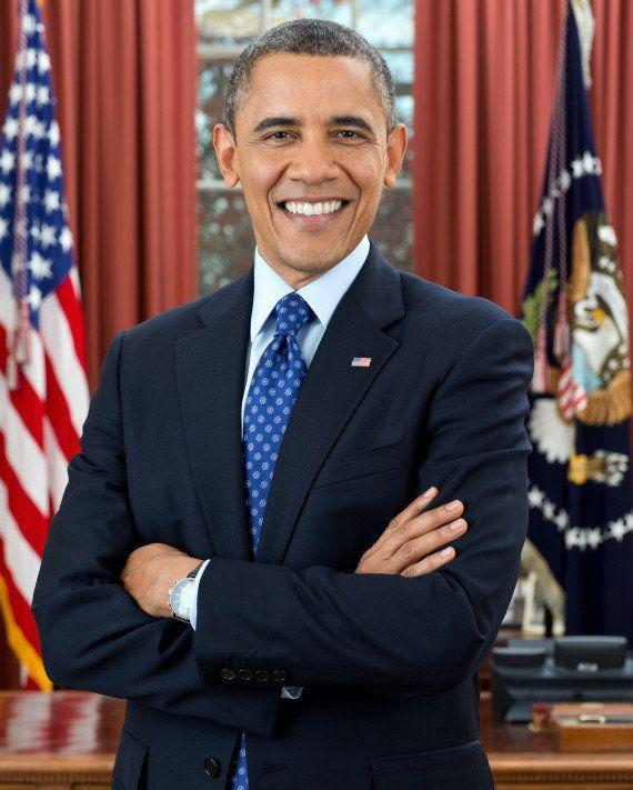 PHOTOS. Portrait officiel d'Obama: un grand sourire du président américain pour le second