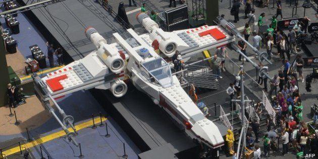 Un X-Wing de Star Wars en Lego sur Times
