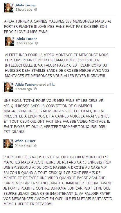 Cannes 2013: Afida Turner virée du tapis rouge