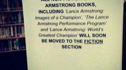 Les livres à la gloire d'Armstrong au rayon