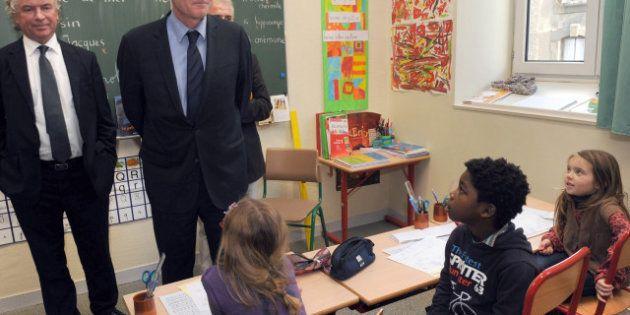 Grève dans les écoles primaires parisiennes contre la réforme des rythmes