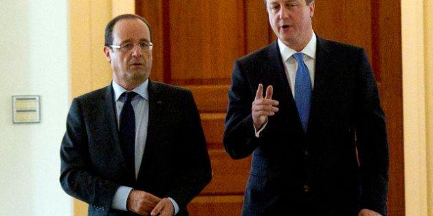 François Hollande rencontre David Cameron à Londres, sur fond de