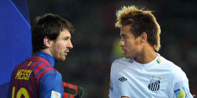 Le Brésilien Neymar transféré au FC Barcelone, de la concurrence pour Lionel