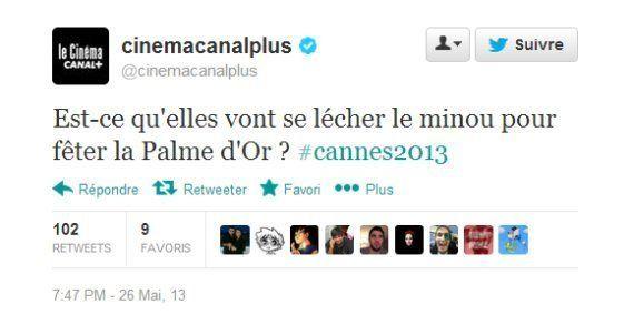 Cannes: un tweet homophobe de Canal Plus sur la palme d'Or la Vie d'Adèle fait