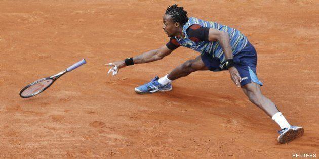 Roland-Garros: exploit de Gaël Monfils à face à Tomas Berdych au terme d'un match