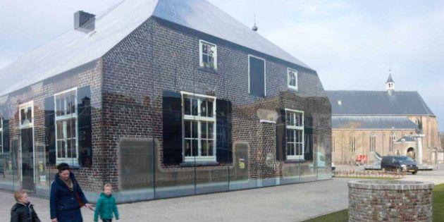 PHOTOS. Architecture: Une ferme traditionnelle géante imprimée sur un bâtiment en