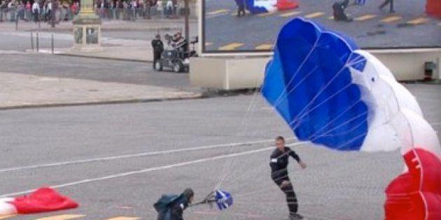 Parachutiste du 14-Juillet: une double fracture tibia péroné pour le