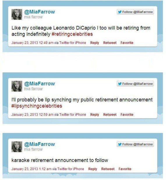 VIDÉOS. L'actrice Mia Farrow annonce sa retraite cinématographique sur