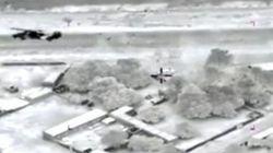 Premières images des frappes aériennes françaises au